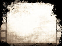 Grunge filmstrip. With some stains Royalty Free Stock Photos