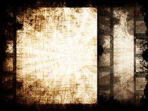 Grunge filmstrip. With some stains Stock Photography