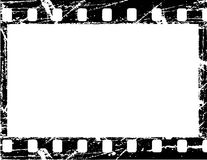 Grunge filmstrip. Aged vector illustration of a grunge filmstrip frame Stock Image