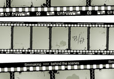 Grunge filmstrip. Vector retro background of filmstrip Royalty Free Stock Photography