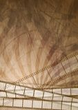 Grunge filmstrip abstrakta brown tło Fotografia Stock