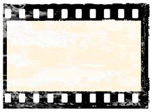 Grunge filmstrip frame Stock Images