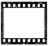 Grunge filmstrip icon. Isolated on white Royalty Free Stock Photo