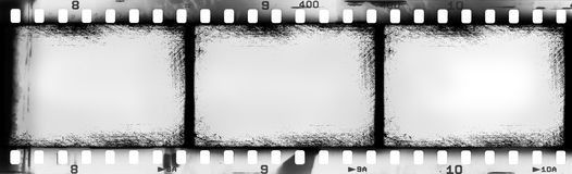 Grunge filmstrip. May be used as a background, design element Stock Image