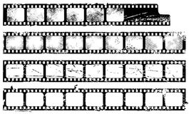 Grunge filmstrips. A set of distressed filmstrips in grunge style Stock Images