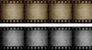 Grunge filmstrips. Two grunge style filmstrip backgrounds Stock Images