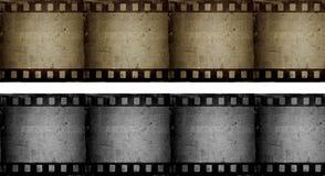Grunge filmstrips Stock Images