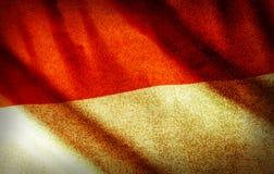 Grunge filtré, drapeau national de l'Indonésie images stock