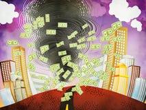 Grunge financial tornado Royalty Free Stock Images