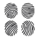 Grunge finger print set Royalty Free Stock Photography