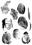 Grunge fingerprint. Forget those nice, neat pictures of fingerprints. Grunge is the new neat-o! Missing lines, smudge, blotches... Makes you feel like a burgler Royalty Free Stock Images