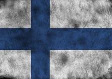 Grunge Finland flag. Lllustration - flag of Finland on vintage texture Stock Photography