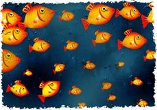 Grunge fish stock illustration