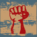 Grunge Fist. Background grunge illustration of a clenched fist vector illustration