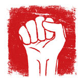 Grunge fist illustration. Vector Stock Images