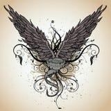 Grunge Flügel Stockfotografie