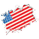 Grunge flag. United States of America flag in grunge style Royalty Free Stock Photos