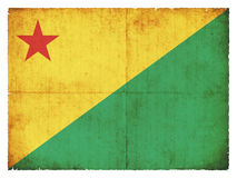 Grunge flag of Acre & x28;Brazil& x29; Stock Images