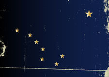 Grunge Flag of Alaska Royalty Free Stock Photography