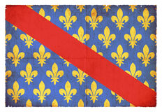 Grunge flag of Allier France. Flag of the French Departement Allier created in grunge style Royalty Free Stock Photography