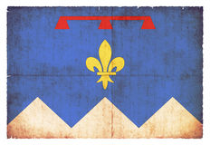 Grunge flag of Alpes-de-Haute-Provence France Royalty Free Stock Images