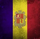 Grunge flag of Andorra stock illustration