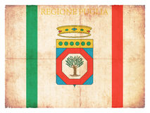 Grunge flag of Apulia Italy Royalty Free Stock Images