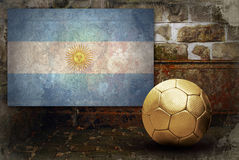Grunge flag of Argentina Stock Photography