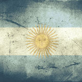 Grunge flag of argentina Royalty Free Stock Photos
