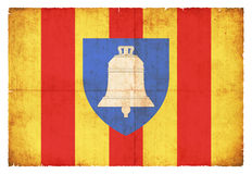 Grunge flag of Ariege France Royalty Free Stock Photos