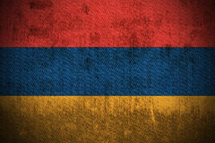 Grunge Flag Of Armenia stock images