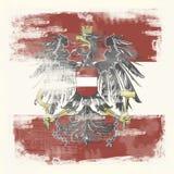 Grunge flag of Austria Stock Photo