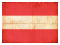 Grunge flag of Austria Stock Photography