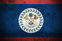 Grunge Flag Of Belize Stock Photography