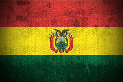 Grunge Flag Of Bolivia stock illustration