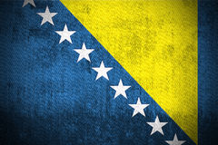 Grunge Flag Of Bosnia and Herzegovina Royalty Free Stock Photography