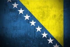 Grunge Flag Of Bosnia and Herzegovina royalty free stock photography