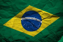 Grunge flag of Brasil Royalty Free Stock Image