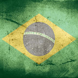 Grunge flag of brazil Royalty Free Stock Photo