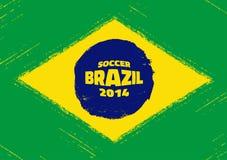 Grunge Flag of Brazil. Vector illustration for your design Royalty Free Stock Photo