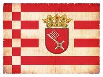 Grunge flag of Bremen Germany Royalty Free Stock Photos
