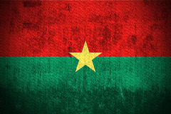 Grunge Flag Of Burkina Faso Stock Images