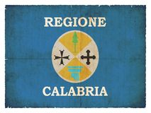 Grunge flag of Calabria (Italy). Symbol of the italien region Calabria created in grunge style Royalty Free Stock Photos