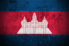 Grunge Flag Of Cambodia Royalty Free Stock Photos
