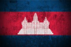 Grunge Flag Of Cambodia royalty free stock photos