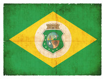 Grunge flag of Ceara & x28;Brazil& x29;. Flag of the Brazilian state Ceara created in grunge style Royalty Free Stock Image