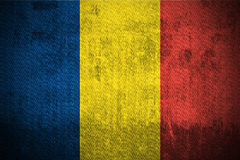 Grunge Flag Of Chad stock photography