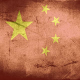 Grunge flag of china Royalty Free Stock Photography