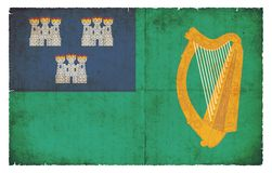 Grunge flag of City of Dublin Ireland Royalty Free Stock Photography