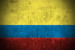 Grunge Flag Of Colombia royalty free stock photo